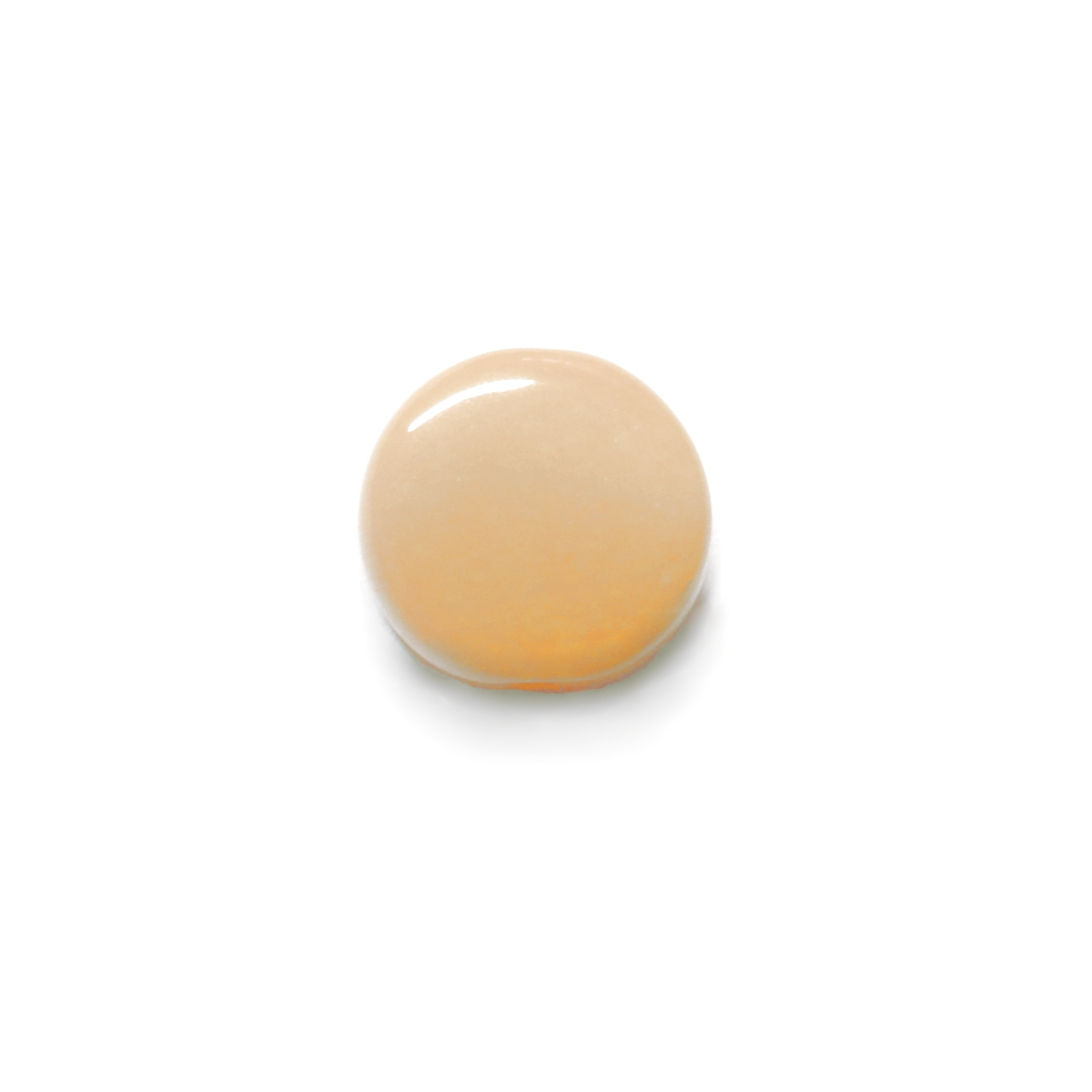 Glass Pill Shaped Bead 8x3mm - Opaque Beige