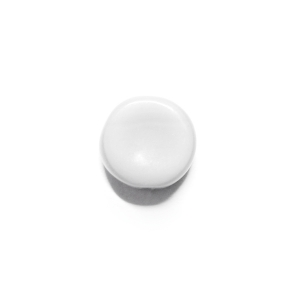 Glass Pill Shaped Bead 8x3mm - Opaque White