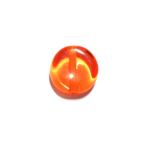 Glass Pill Shaped Bead 8x3mm - Transparent Orange