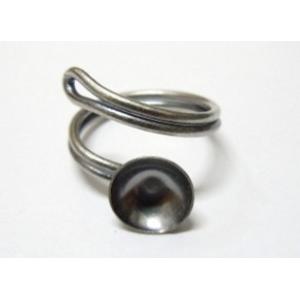 Base Anillo Concava 10mm Con Aro Espiral