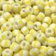 Round nº 5 - Bicolour Yellow/White Opaque