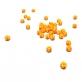 Round nº 4 - Bicolour Yellow/Orange (Stripes) Opaque