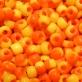 Round nº 4 - Bicolour Yellow/Orange (Halves) Opaque