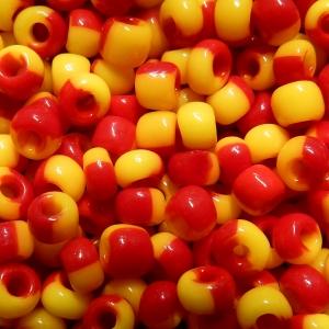 Rocalla nº 4 - Bicolor - Amarillo/Rojo Opaco