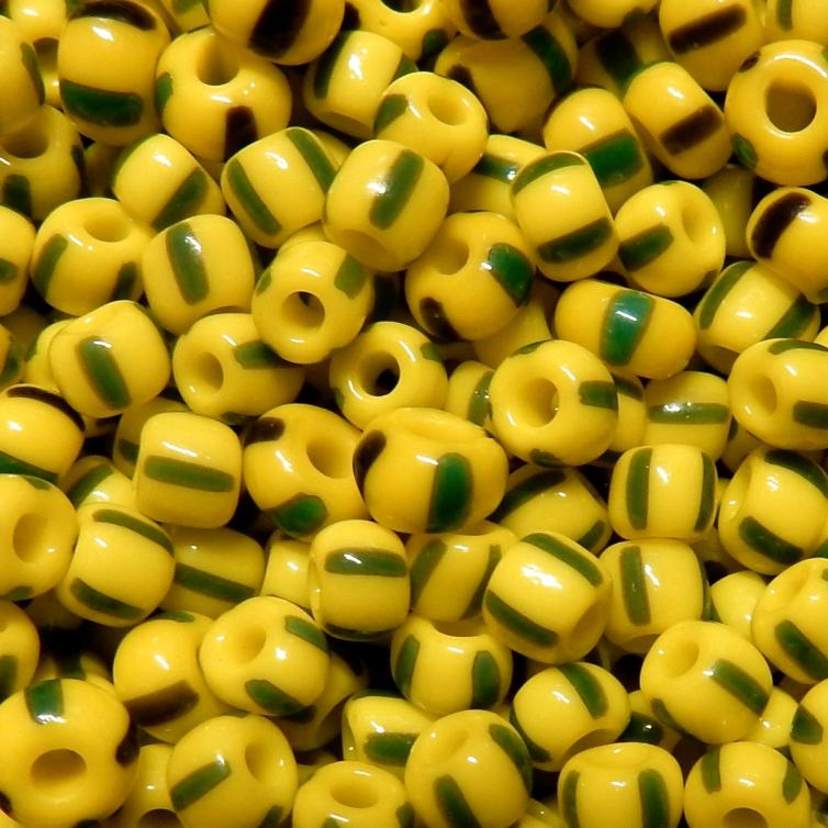 Round nº 4 - Triicolour Yellow/Green/Grey Opaque