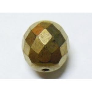 Bola Cristal Facetada 5mm - Oro Viejo