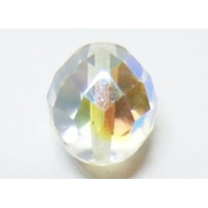Faceted Glass Ball 6mm - Transparent AB