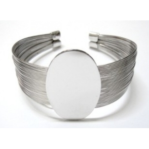 Pulsera Multihilos Con Base 40x25mm