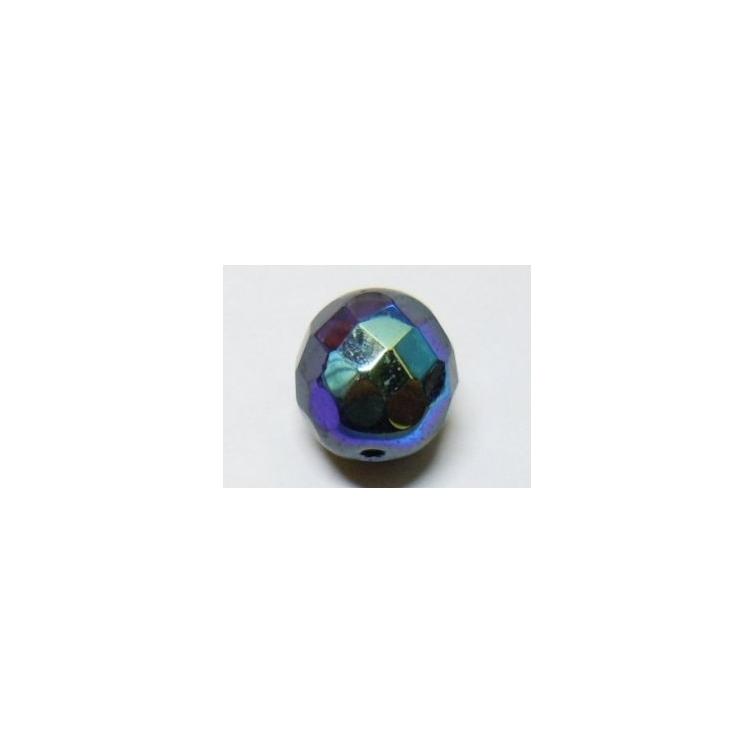 Bola Cristal Facetada 7mm - Negro AB