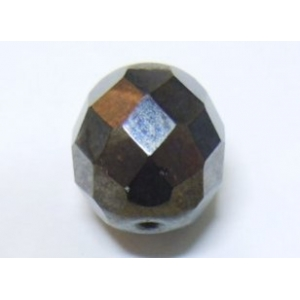Faceted Glass Ball 7mm - Hematite