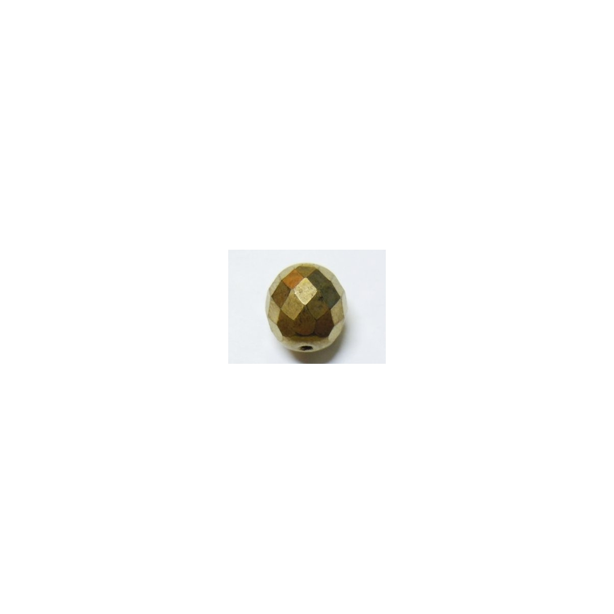 Faceted Glass Ball 7mm - Antique Gold