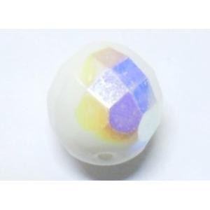 Bola Cristal Facetada 10mm - Blanco Opaco AB