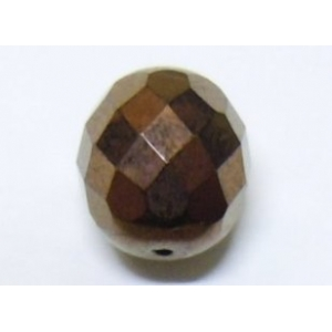 Faceted Glass Ball 10mm - Antique Copper