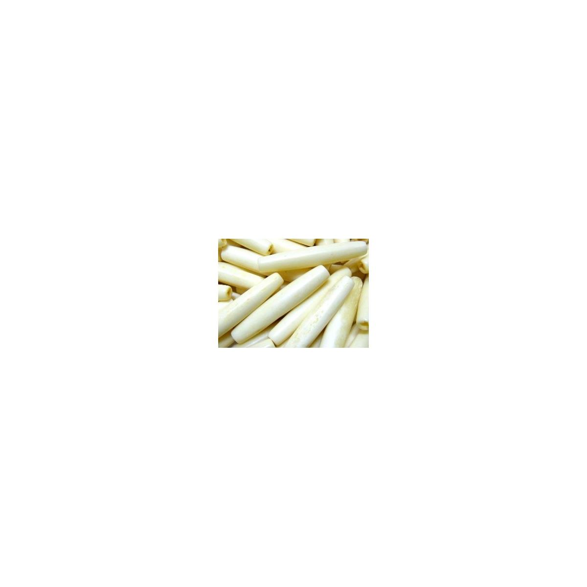 Bone Tube 36x6mm - Natural Bone