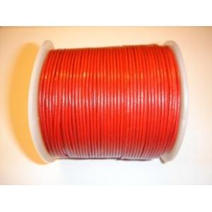 Cordon Cuero 1.5mm - Rojo 105