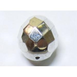 Bola Cristal Facetada 14mm - Plateado