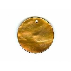 Nacre Disc 20mm - Light Brown AGB-93