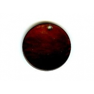 Nacre Disc 20mm - Dark Brown AGB-66