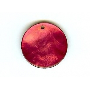 Nacre Disc 20mm - Red AGB-65