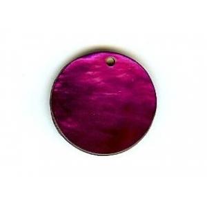 Nacre Disc 20mm - Dark Purple AGB-40