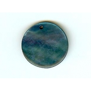 Nacre Disc 20mm - Turquoise Blue AGB-68