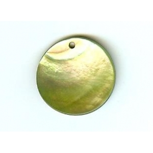 Nacre Disc 20mm - Light Green AGB-60
