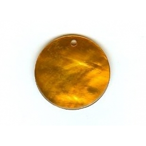 Nacre Disc 20mm - Orange AGB-74