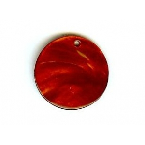 Nacre Disc 20mm - Dark Red AGB-103