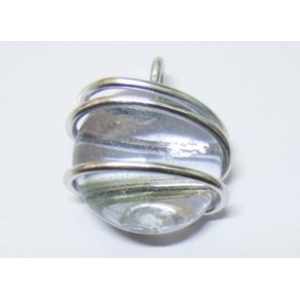 Colgante Cristal - Hilo Aluminio