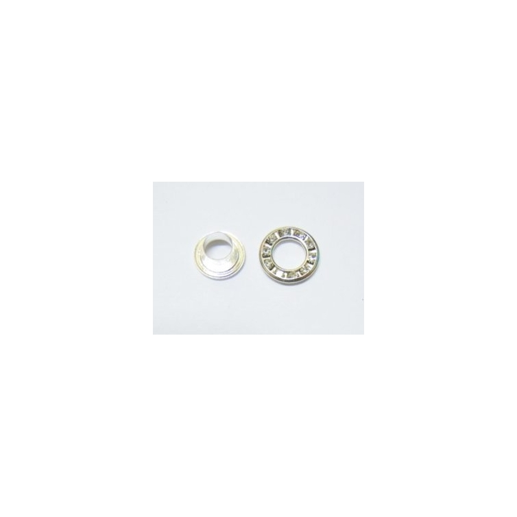 Strass Ring With Rivet