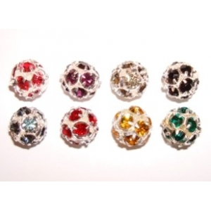 Strass Ball 10mm Silver Colour