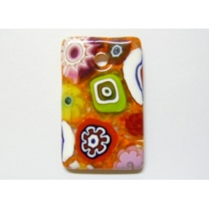 Rectangle pendant Lampwork