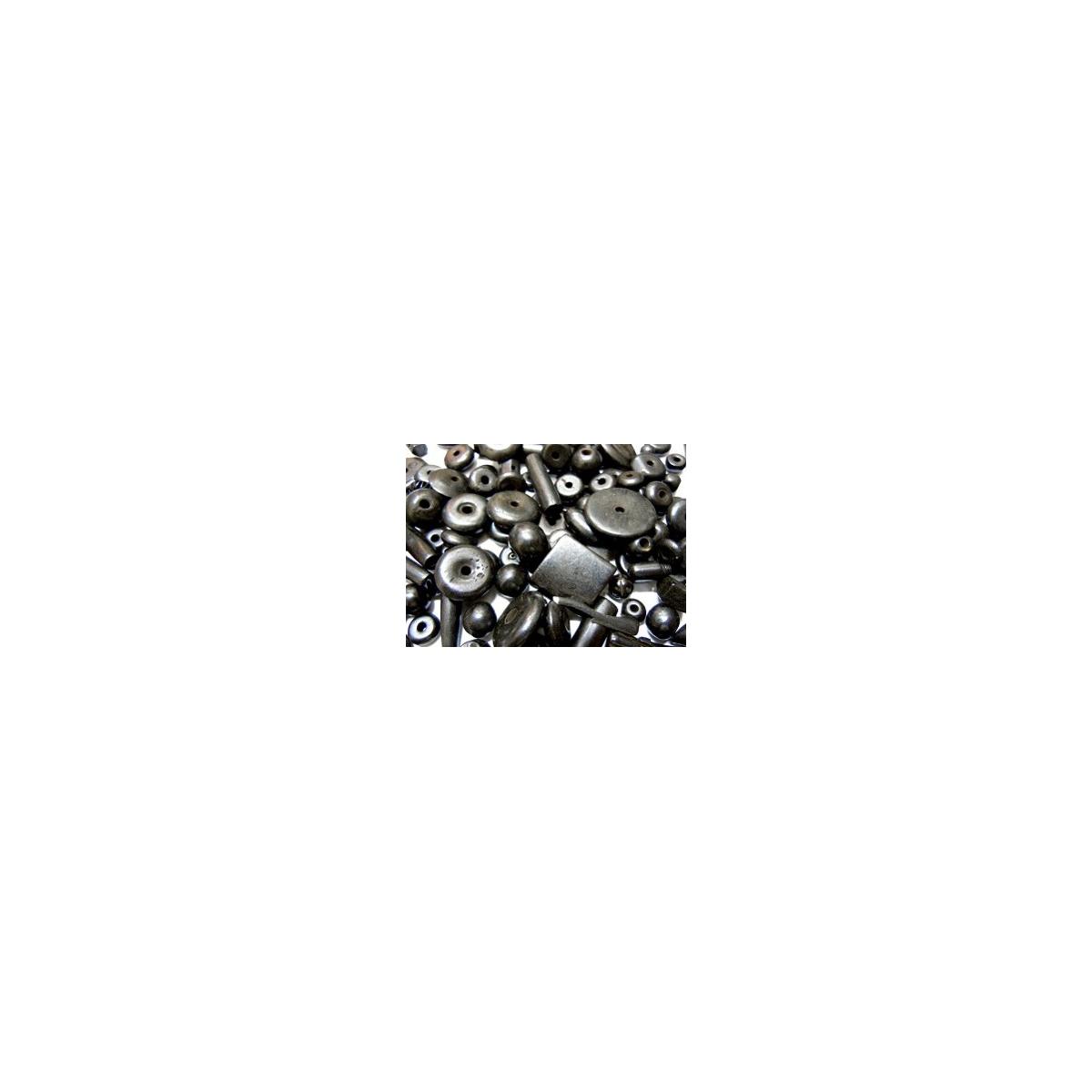 Mixture Of Bone Beads - Black