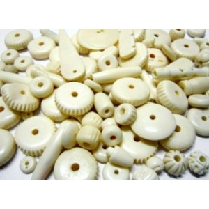 Mixture Of Bone Beads - Natural Bone
