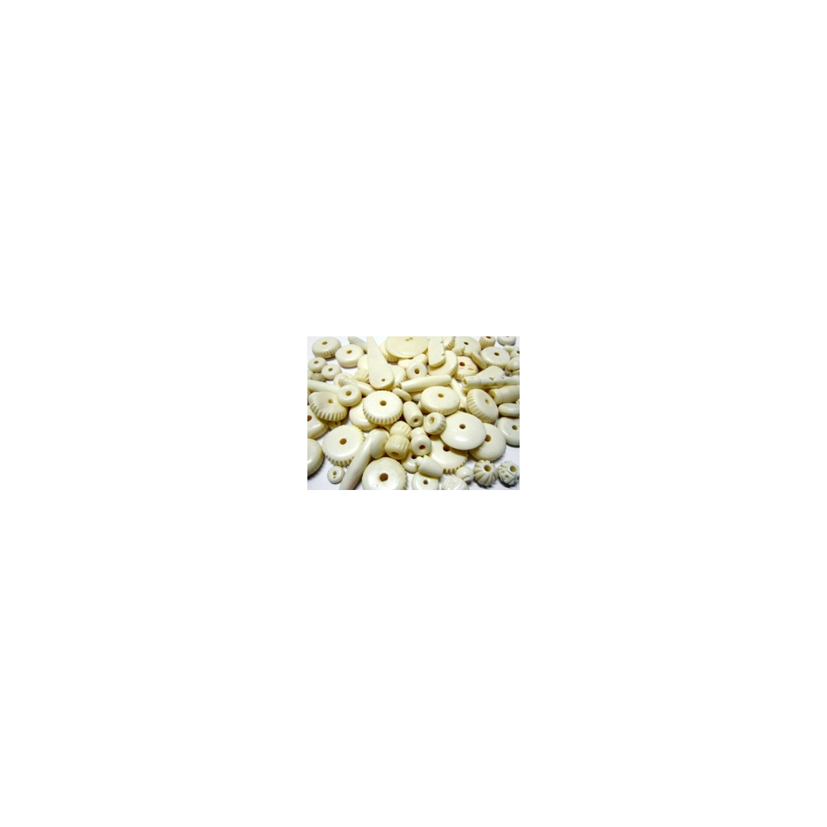 Mixture Of Bone Beads - Natural Bone