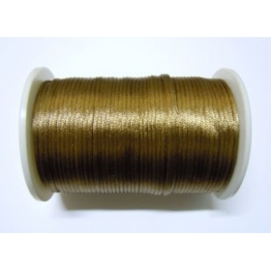 Satin Cord 2mm - Medium Brown