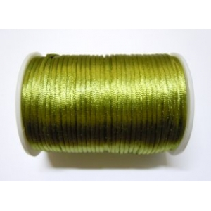 Satin Cord 2mm - Olive Green