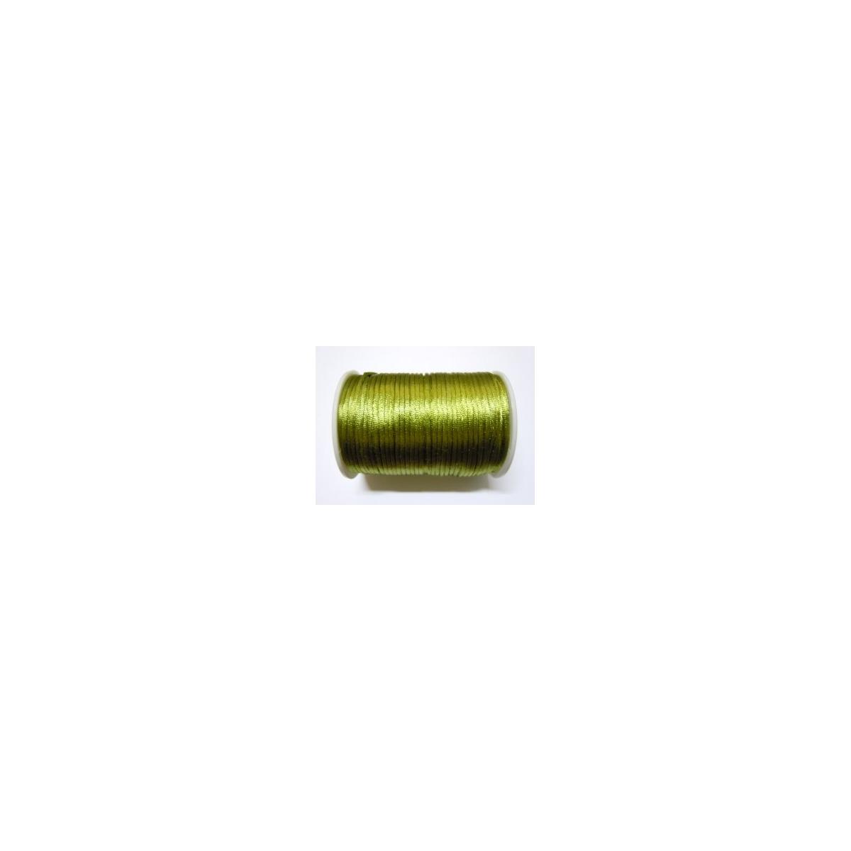 Satin Cord 2mm - Olive Green