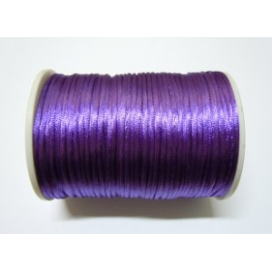 Satin Cord 2mm - Dark Purple