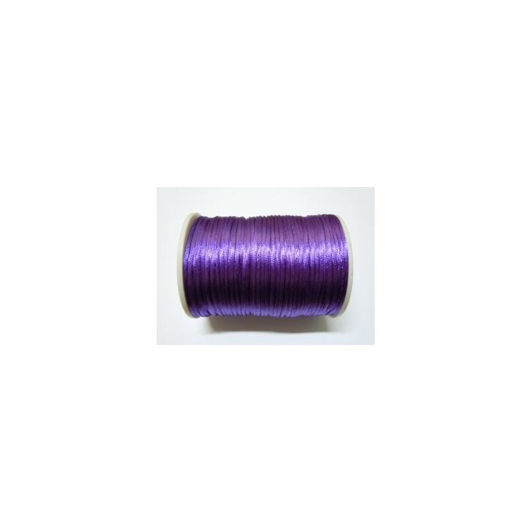 Satin Cord 2mm - Dark Purple