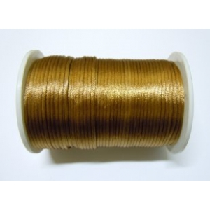 Satin Cord 2mm - Copper Brown